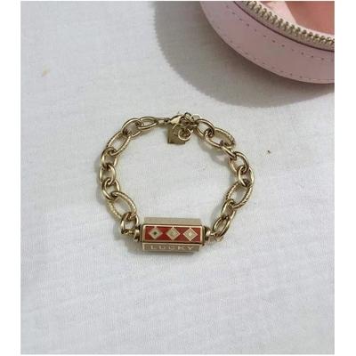 Bracelet LOVE HAPPY LUCKY beige-doré acier inoxydable - Mile Mila