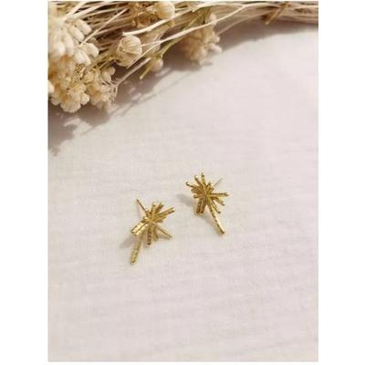 Boucles d'oreilles étoile doré acier inoxydable puces - Mile Mila