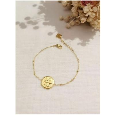 Bracelet abeille doré acier inoxydable - Mile Mila