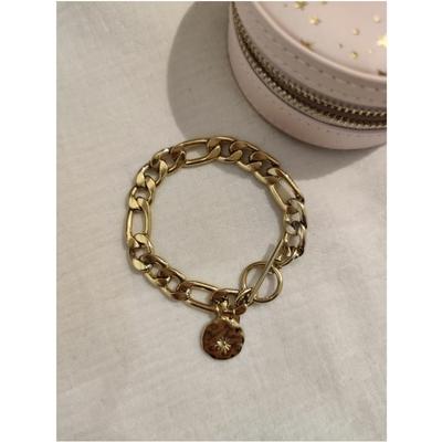 Bracelet mailles soleil doré acier inoxydable - Mile Mila