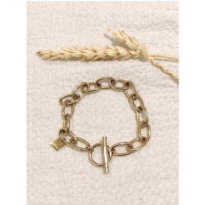Bracelet mailles rond doré acier inoxydable - Mile Mila