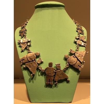 collier 8 COUPLES argent longueur réglable 50cm collection GARS-FILLES Lili La Pie