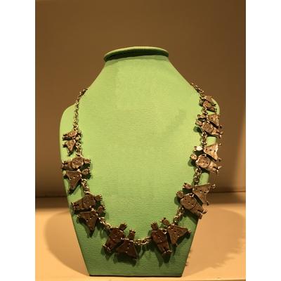 collier 9 COUPLES argent longueur réglable 50cm collection GARS-FILLES Lili La Pie