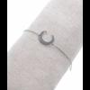 Bracelet demi-lune argent H1.5cm L1.2cm acier inoxydable Milë Mila  M5C18B 12.9