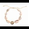 Bracelet cauri soleil doré pendentif H1.00cm x L1.00cm acier inoxydable Milë Mila  M19B26 14.4