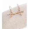 Boucles d'oreilles crochets arc & flèche or rose pendentif H2.20cm x L2.00cm acier inoxydable   Milë Mila M4C06E 21.9