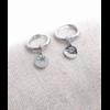 Boucles d'oreilles mini créoles soleil argent pendentif H0.60cm x 0.60cm créole 1.50cm acier inoxydable Milë Mila  M19E05 11.4