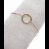 Bracelet rond perles roses doré H 1.7cm L 1.7cm acier inoxydable Milë Mila M1BR085 20.4