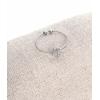 Bague fine trèfle argent pendentif H0.5cm L0.5cm acier inoxydable - Mile Mila   M18R012 11.9