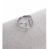 Bague pinces argent largeur bague L1.2cm acier inoxydable - Mile Mila   M5BA25 12.9