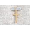 Pendentif croix doré H 1.6cm L 0.7cm acier inoxydable - Mile Mila M18A002