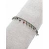 Bracelet pampilles pierres multicouleurs argent pendentif H1.3cm L0.2cm acier inoxydable - Mile Mila  M5BR01 18.9