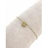 Bracelet trèfle plein pendentif H0.9cm L1.1cm  acier inoxydable doré - Mile Mila   M5C07B 18.9