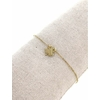 Bracelet trèfle plein pendentif H0.9cm L1.1cm  acier inoxydable or rose - Mile Mila   M5C07B 18.9