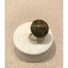 Bague fine réglable pierre unakite acier inoxydable doré - Mile Mila   pendentif H2.0cm L2.0cm    M19R109   17.7