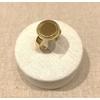 Bague réglable cercle acier inoxydable doré - Milë Mila  dimension H1.50cm x L1.50cm    M19R102 14.4