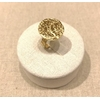 Bague réglable pièce martelée acier inoxydable doré - Milë Mila  dimension H1.60cm x L1.60cm     M19R95    14.4
