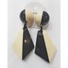 Boucles d'oreilles black & white résine Marion Godart