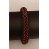 Bracelet FUNKY GOLD rouge collection gold - cuir naturel de renne et fils dargent - Hanna Wallmark 1 119 19cm