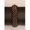 Bracelet ROKER GOLD collection gold - cuir naturel de renne et fils d'argent - Hanna Wallmark 1 169 17cm