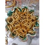 Bague anneau temple tibétain bouddhiste poudre d'or et huile dans tube scellé - La Belle Simone Bijoux 4