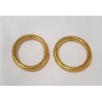 Bague anneau temple tibétain bouddhiste poudre d'or et huile dans tube scellé - La Belle Simone Bijoux
