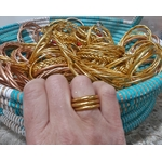 Bague anneau temple tibétain bouddhiste poudre d'or et huile dans tube scellé - La Belle Simone Bijoux 2