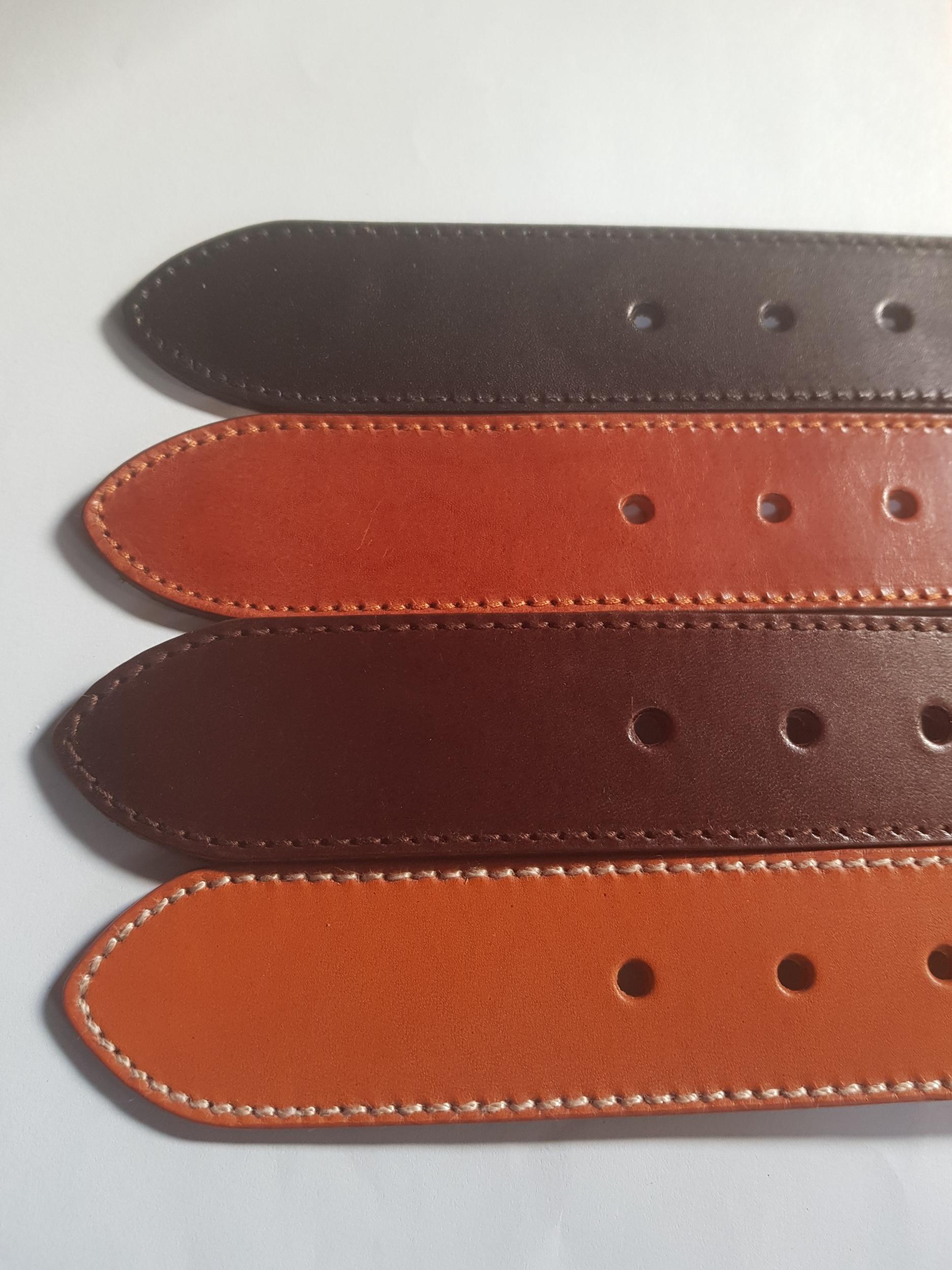 lanière  cousue pour ceinture