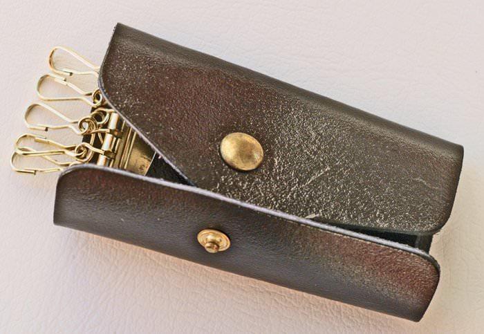 porte cle cuir 6 mousquetons articles metalliques fournitures metalliques bouton de col. Black Bedroom Furniture Sets. Home Design Ideas