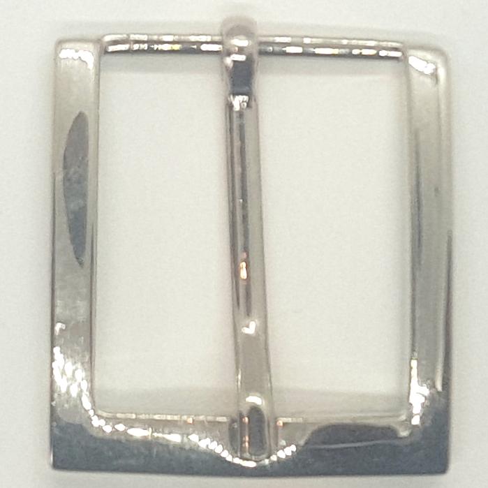 Boucle  de ceinture 30 mm argentée