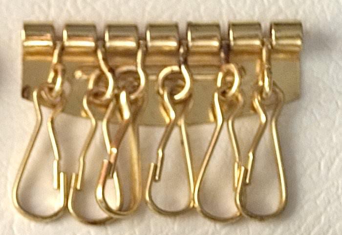 platine 4 ou 6 mousquetons porte cle