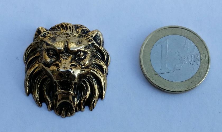 MOTIF TETE LION RESINE - 69040