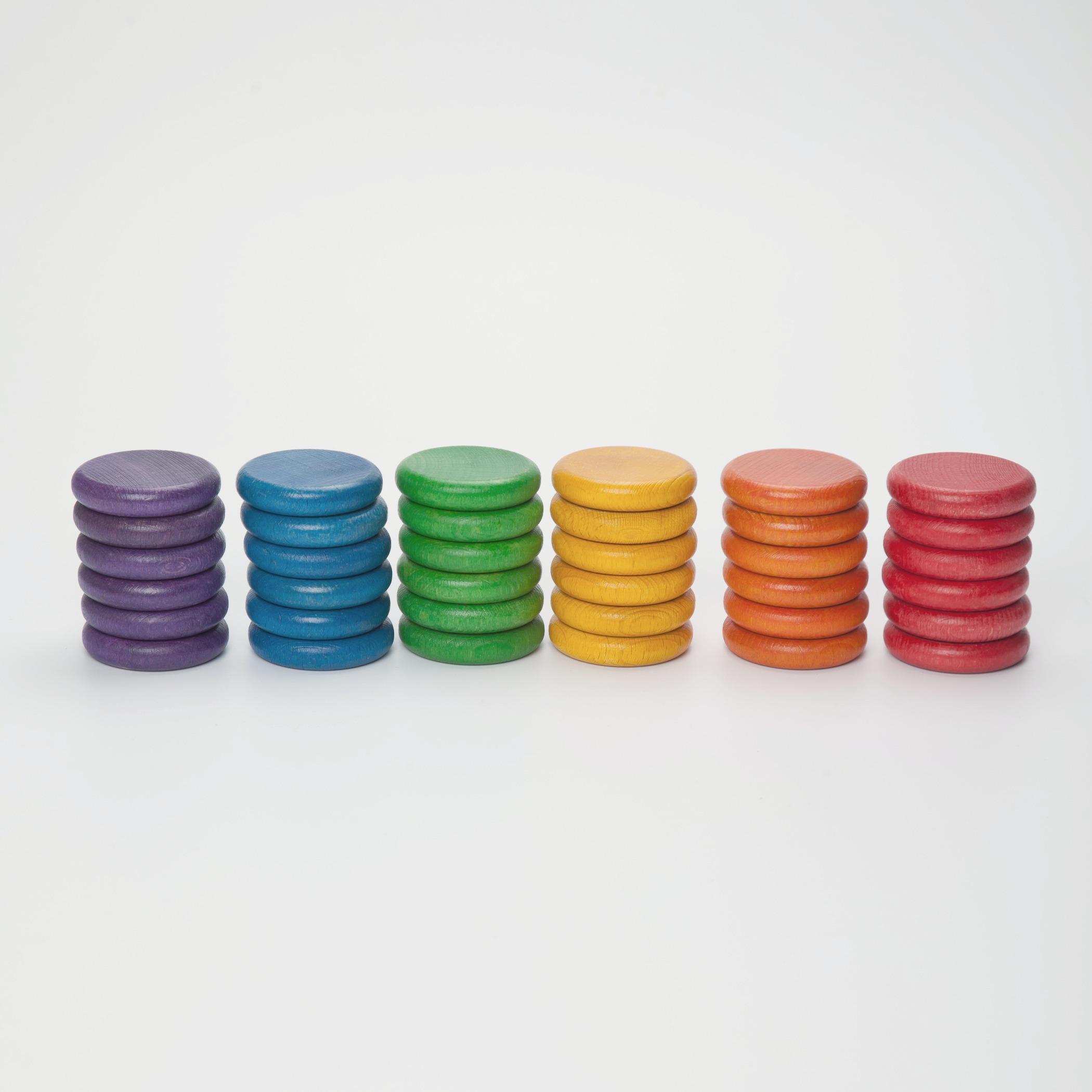 36 pièces Grapat en 6 couleurs