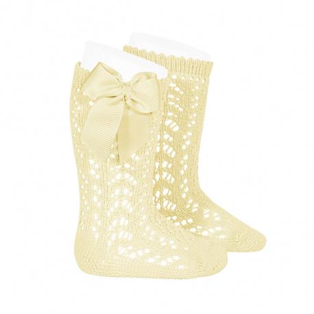 chaussettes-hautes-ajourees-avec-noeud-beurre