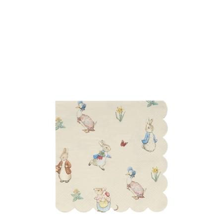 20 petites serviettes Pierre le Lapin & ses amis