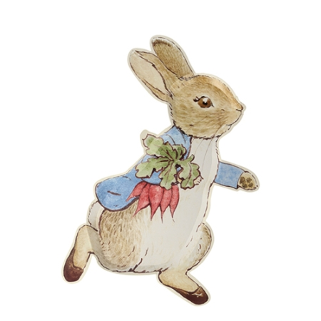 12 assiettes Peter Rabbit (en forme de Peter Rabbit)