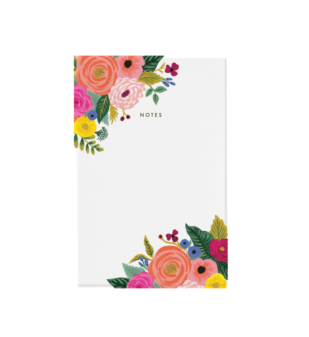 Bloc notes - Juliet rose