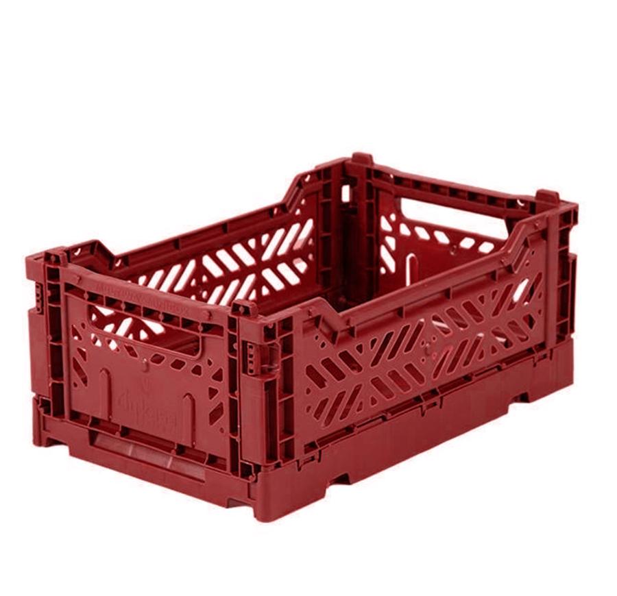 Caisse de rangement pliable Small coloris Tile Red