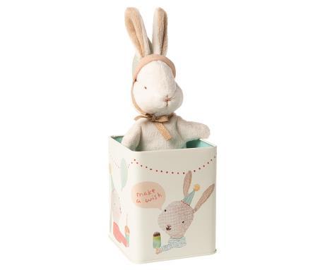Doudou Maileg : lapin Happy Day dans sa boîte