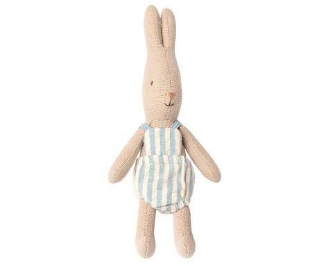 Lapin Maileg : micro lapin et sa barboteuse bleue