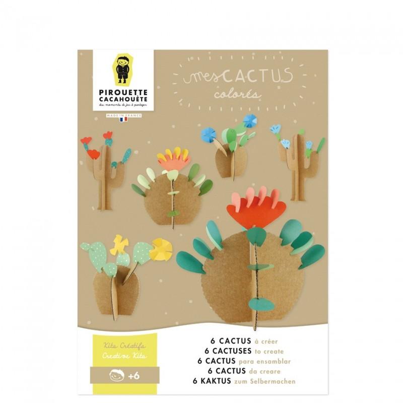 Kit créatif Mes cactus colorés