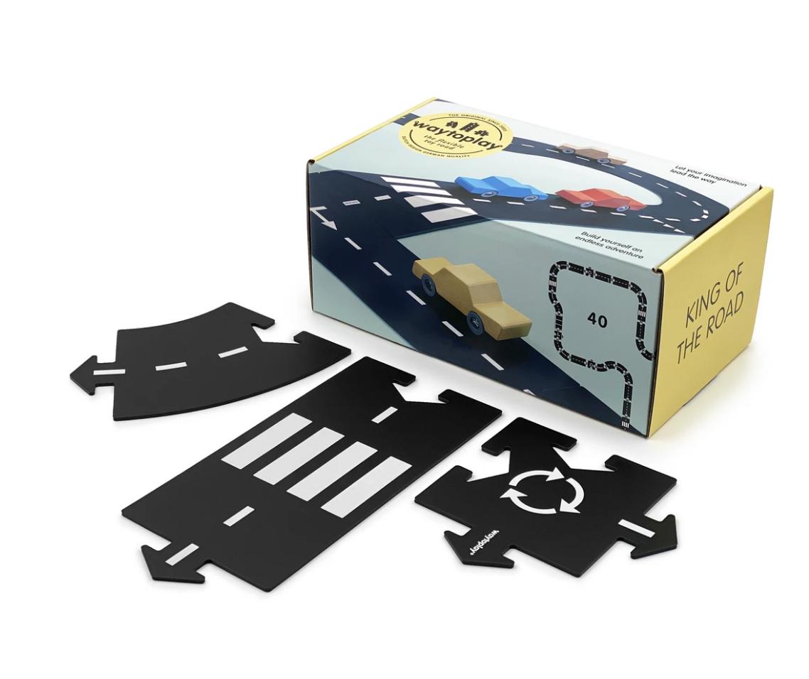 Circuit modulable pour voitures - 40 pièces - King of the road / l\'as du volant