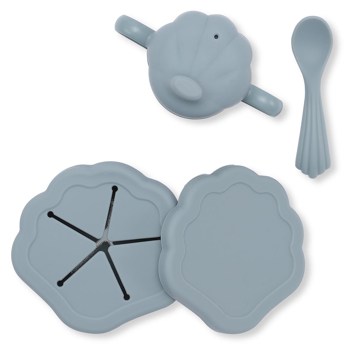 Set de repas coquillage 5 pièces light blue