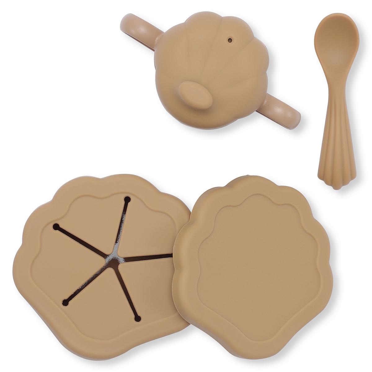Set de repas coquillage 5 pièces terracotta