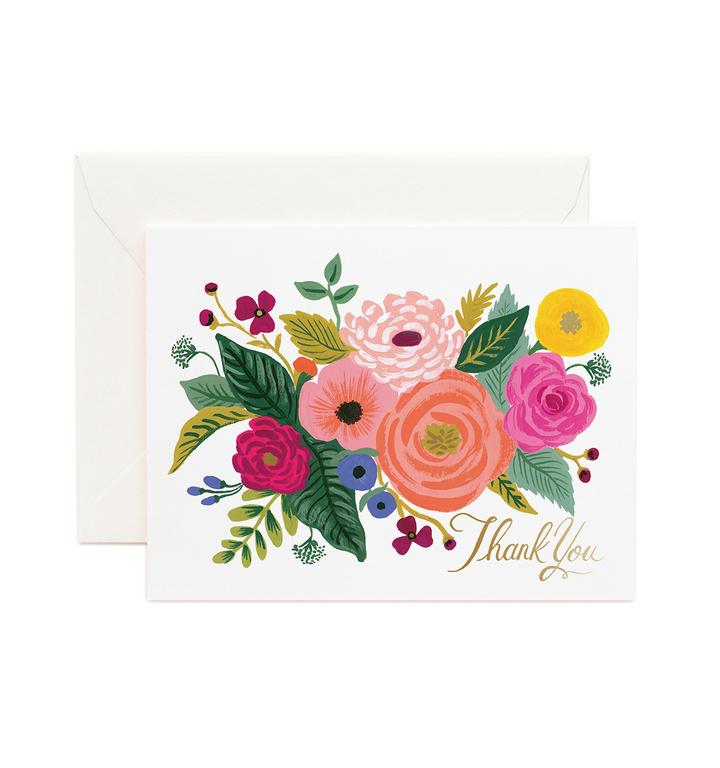 Carte double - Juliet rose Thank you