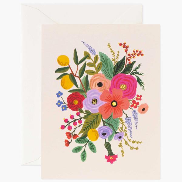 Carte double - Garden party blush