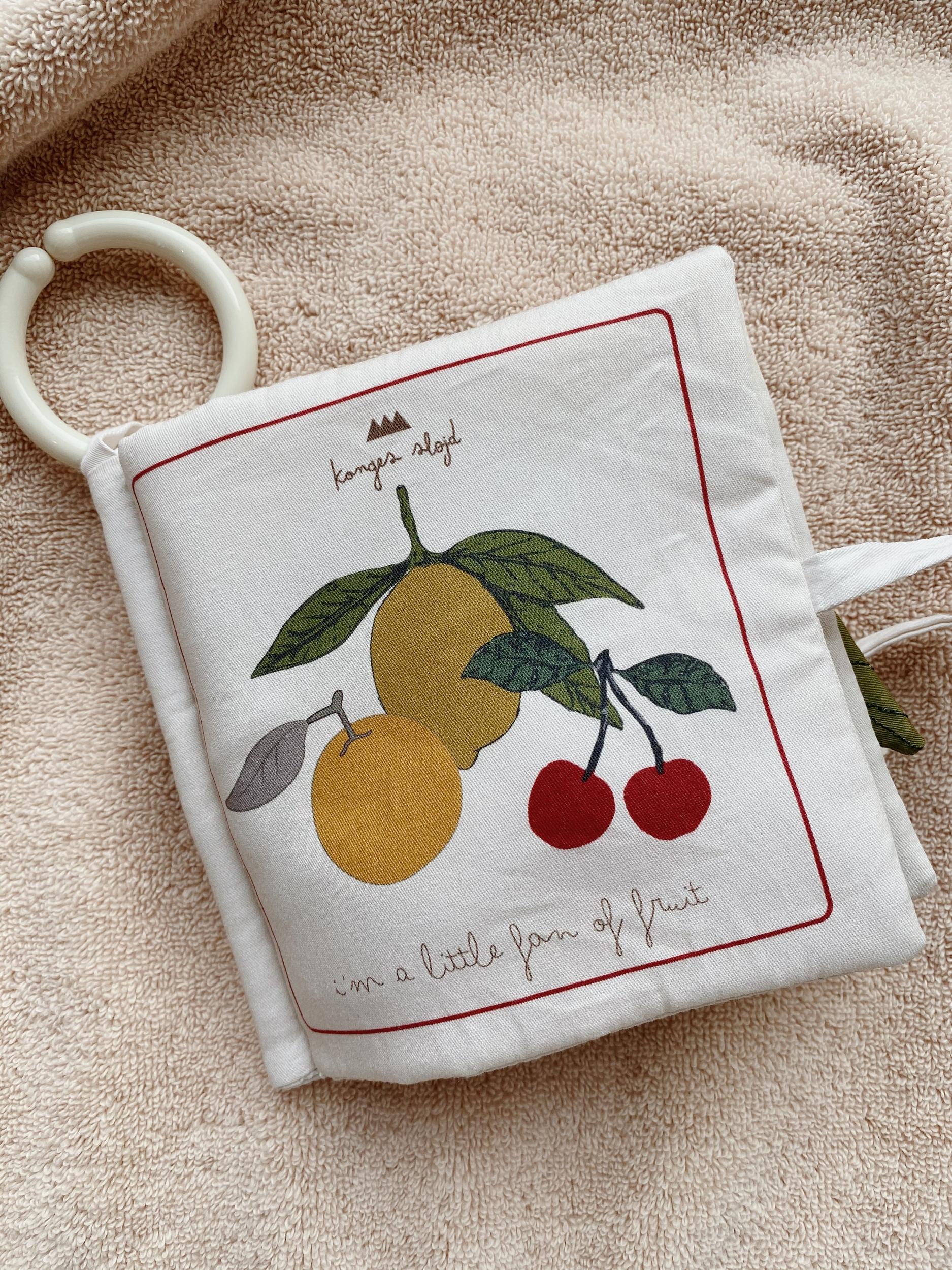 Livre d\'éveil en tissu thème fruits
