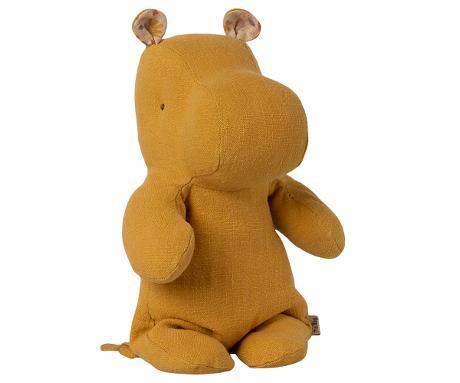Doudou Maileg : Safari friends - Hippopotame small coloris dusty yellow