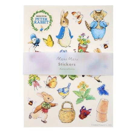 Lot de 10 feuilles de stickers Pierre Lapin / Peter Rabbit