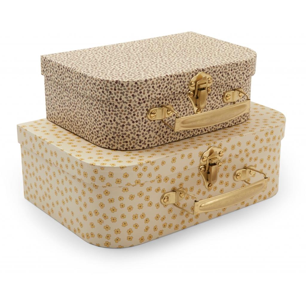 Lot de 2 valises gigognes - Buttercup yellow, rosarie